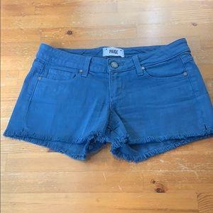 Paige Blue Shorts cut off Size 26 T28